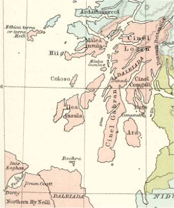 Skenes Map of Dalriada